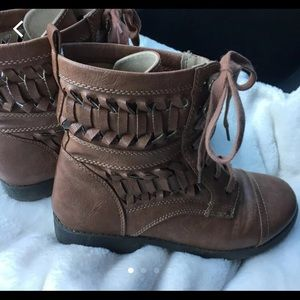 Brash Lace Up Boots